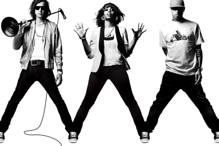 julian casablancas, santigold, and pharrell williams