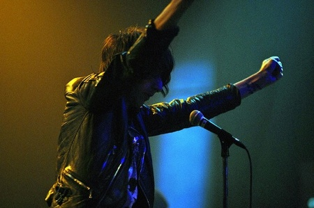 The Horrors' lead singer Faris Badwan in LA at the Music Box