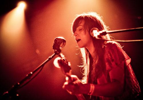the Holly Miranda half of Holly Miranda (there's also a guy who plays guitar)